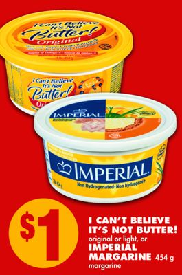 I Can't Believe It's Not Butter! Original or Light - or Imperial Margarine 454 g