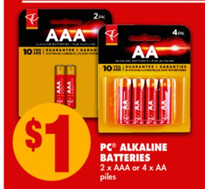 PC Alkaline Batteries - 2 X Aaa or 4 X Aa