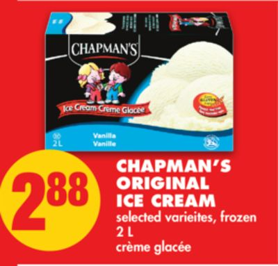 Chapman's Original Ice Cream - 2 L