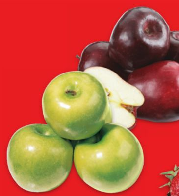 Granny Smith Apples or Red Delicious Apples