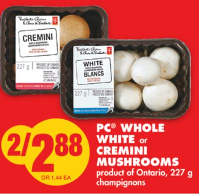 White or Cremini Mushrooms - 227 g