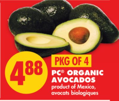 PC Organic Avocados - Pkg Of 4