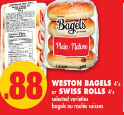 Weston Bagels 4's or Swiss Rolls 4's