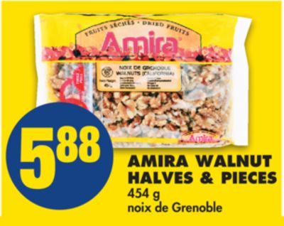 Amira Walnut Halves & Pieces - 454 g