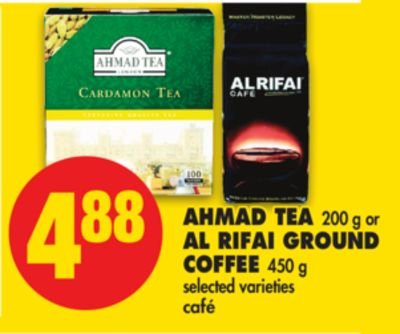 Ahmad Tea - 200 g or Al Rifai Ground Coffee - 450 g