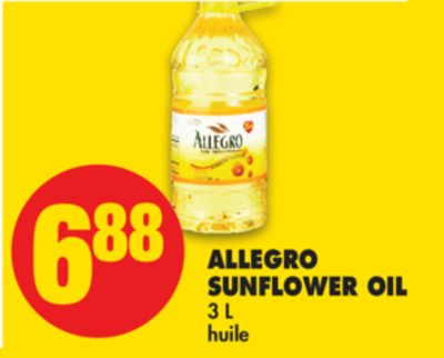Allegro Sunflower Oil - 3 L