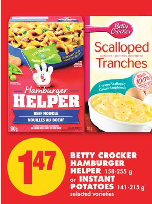 Betty crocker hamburger helper singles