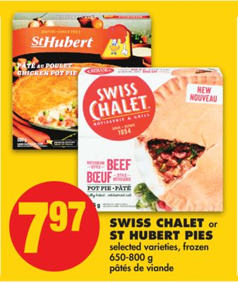 Swiss Chalet or St Hubert Pies - 650-800 g