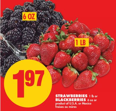 Strawberries - 1 Lb or Blackberries - 6 Oz