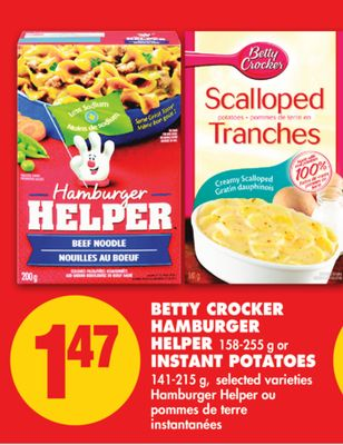 Betty Crocker Hamburger Helper 158-255 g or Instant Potatoes 141-215 g