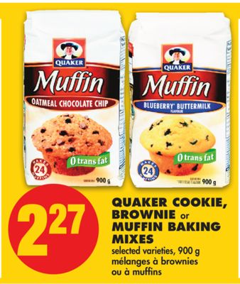 Quaker Cookie - Brownie or Muffin Baking Mixes - 900 g