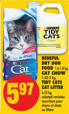 Beneful Dry Dog Food - 1.6-1.8 Kg - Cat Chow - 1.42-2 Kg - Tidy Cats Cat Litter - 6.35 Kg