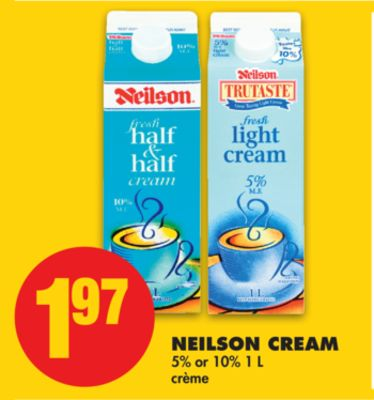 Neilson Cream - 5% or 10% 1 L