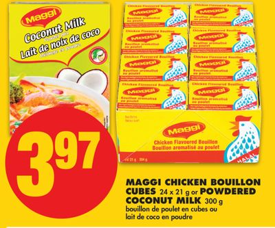Maggi Chicken Bouillon Cubes - 24 X 21 g or Powdered Coconut Milk - 300 g
