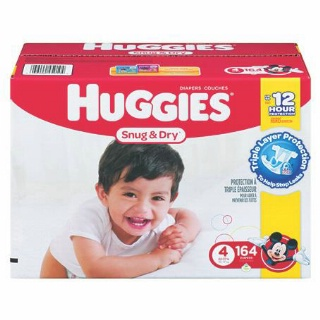 Pampers or Huggies Club Size Diapers