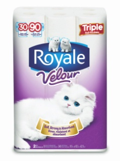 Royale Bathroom Tissue or Bounty Paper Towels