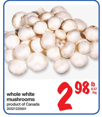 how to prepare whole white mushrooms