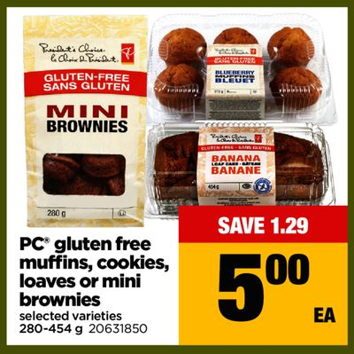 PC Gluten Free Muffins - Cookies - Loaves Or Mini Brownies - 280-454 g