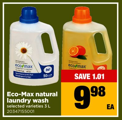 Eco-max Natural Laundry Wash - 3 L