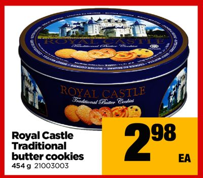 Royal Castle Traditional Butter Cookies - 454 g