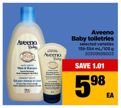 Aveeno Baby Toiletries - 139-354 Ml/105 g