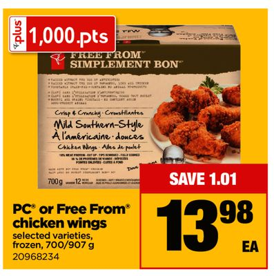 PC Or Free From Chicken Wings - 700/907 g