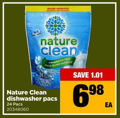 Nature Clean Dishwasher Pacs - 24 Pacs