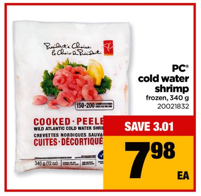 PC Cold Water Shrimp - 340 g