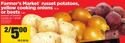 Farmer's Market Russet Potatoes - Yellow Cooking Onions - 10 Lb - Or Beets - 5 Lb