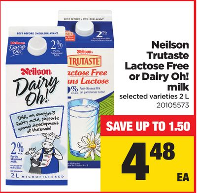 Neilson Trutaste Lactose Free Or Dairy Oh! Milk - 2 L