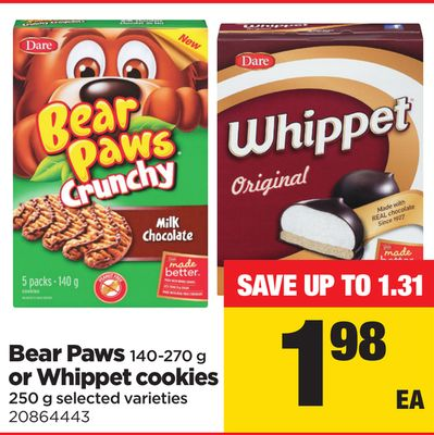 Bear Paws - 140-270 g Or Whippet Cookies - 250 g