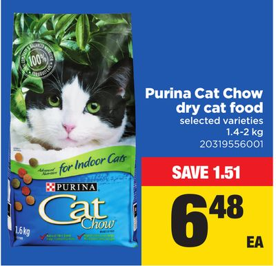 Purina Cat Chow Dry Cat Food - 1.4-2 Kg