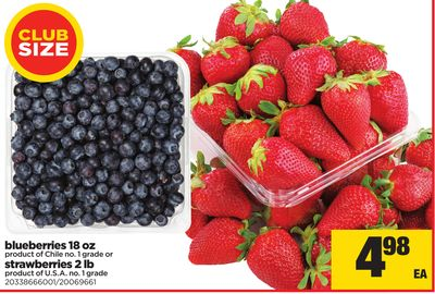 Blueberries - 18 Oz Or Strawberries - 2lb