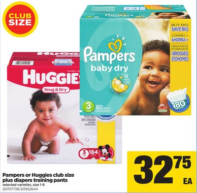 Pampers Or Huggies Club Size Plus Diapers Training Pants - Size 1-6