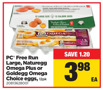 PC Free Run Large - Naturegg Omega Plus Or Goldegg Omega Choice Eggs - 12pk