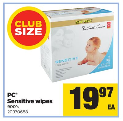 PC Sensitive Wipes - 900's