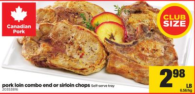 Pork Loin Combo End Or Sirloin Chops