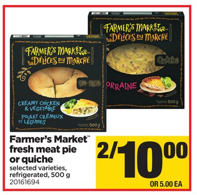 Farmer's Market Fresh Meat Pie Or Quiche - 500 g