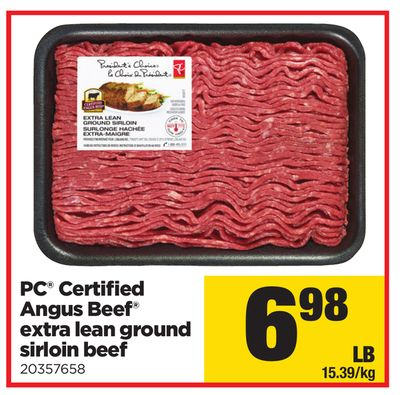 PC Certified Angus Beef Extra Lean Ground Sirloin Beef
