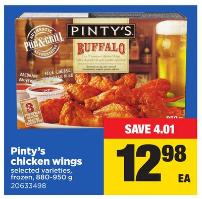 Pinty's Chicken Wings - 880-950 g