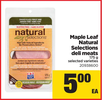 Maple Leaf Natural Selections Deli Meats - 175 G