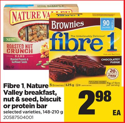 Fibre 1 - Nature Valley Breakfast - Nut & Seed - Biscuit Or Protein Bar - 148-210 g