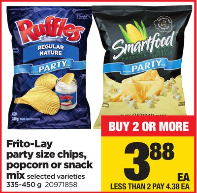 Frito-lay Party Size Chips - Popcorn Or Snack Mix - 335-450 g