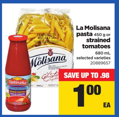 La Molisana Pasta - 450 g Or Strained Tomatoes - 680 mL