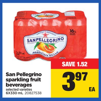 San Pellegrino Sparkling Fruit Beverages - 6x330 mL