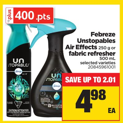 Febreze Unstopables Air Effects 250 g or Fabric Refresher 500 mL