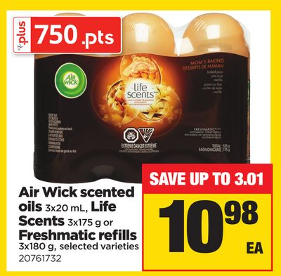 Air Wick Scented Oils - 3x20 mL - Life Scents - 3x175 g Or Freshmatic Refills - 3x180 g