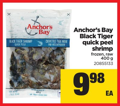 Anchor's Bay Black Tiger Quick Peel Shrimp - 400 g