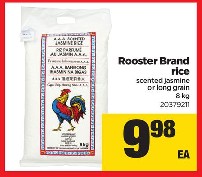 Rooster Brand Rice - 8 Kg