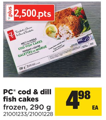 PC Cod & Dill Fish Cakes - 290 g